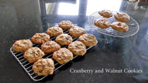 Low Fodmap cranberry and walnut Cookies